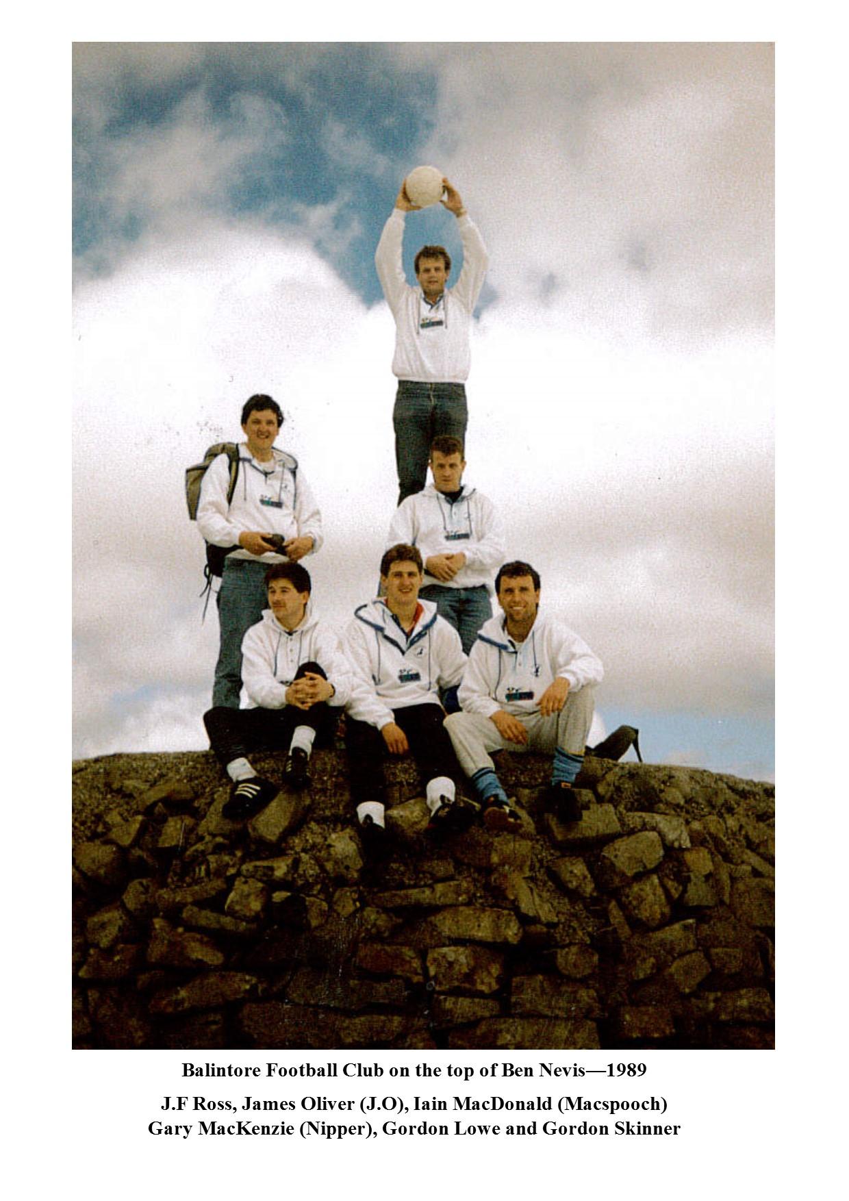 Balintore FC top of ben nevis